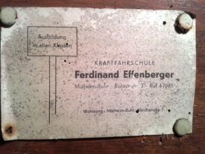 Briefkaestenschild_KraftFahrschule_Ferdinand_Effenberger_MH_Ruhrstr.3_Scheunenfund_Foto_by_Ivo_Franz