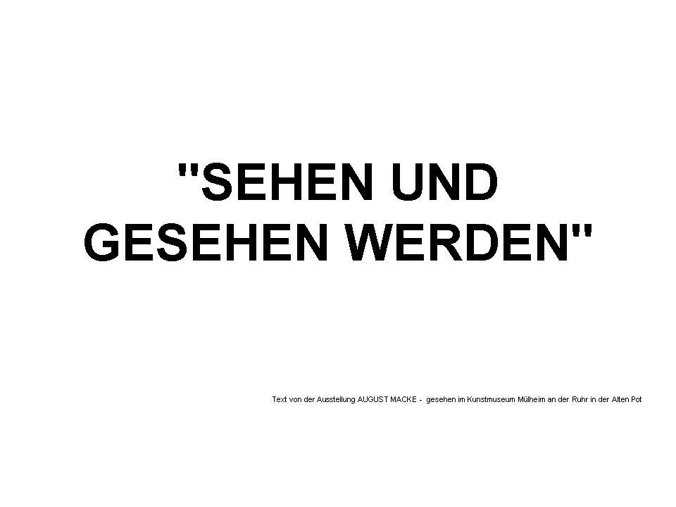 """""""SEHEN UND GESEHEN WERDEN""""  in der Kunststadt Mülheim an der Ruhr"""