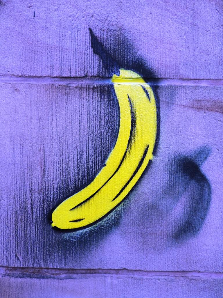 Alles Banane am Kunstmuseum in der Kunst- und Kulturstadt Mülheim an der Ruhr