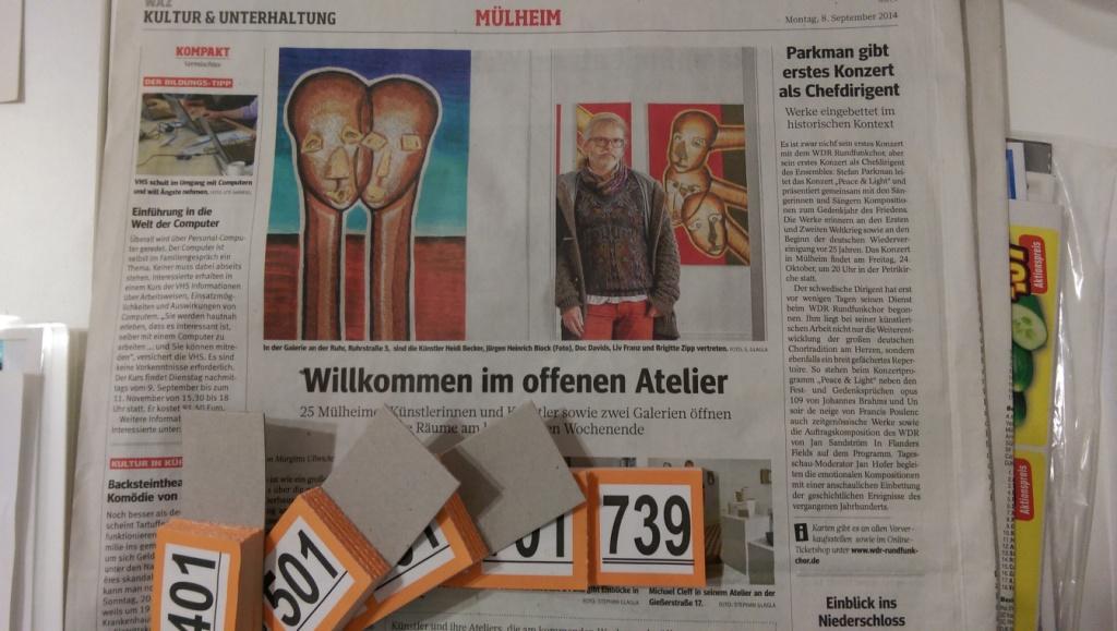 750. Besucher bei der Kunstausstellung MIGRINT 2014 in Mülheim an der Ruhr in der Ruhr Gallery / Galerie an der Ruhr