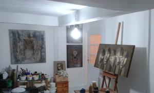 OFFENE_ATELIERS_2014_Blick_in_das_Atelier_von_Juergen-Heinrich-Block_Kunststadt_Muelheim_Ruhrstr.3_Foto_Ivo_Franz