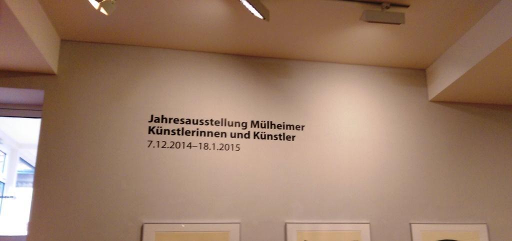74. Mülheimer Jahresausstellung in weiss-schwarzer Harmonie