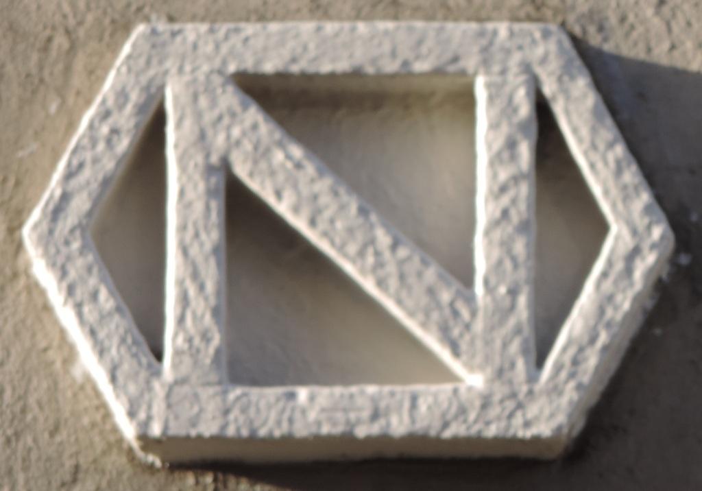 "Das ""große N"", stählernenes Logo des Mülheimer Stahlhändlers Oskar Natorp"