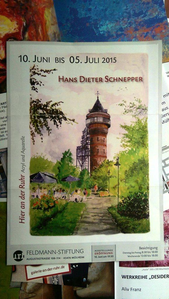 """Ruhrmaler Hans Dieter Schnepper:  """"Hier an der Ruhr – Acryl und Aquarelle"""""""