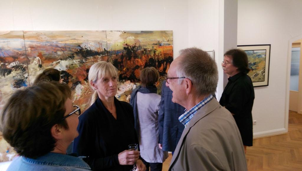 Besuch der Ausstellung CLAUDIA TEBBEN in der Galerie Bredeney in Essen
