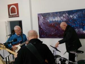 Mitglieder der Band POOL in der Galerie an der Ruhr