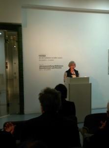 Mülheims Bürgermeisterin Margarete Wietelmann begrüßte die Mülheimer Kunstliebhaber