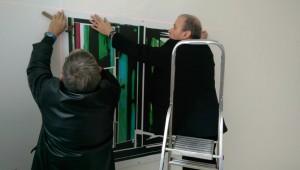 Klaus-Heckhoff-li._Vorbereitungen_Ausstellung_RUHR-GALLERY-2016