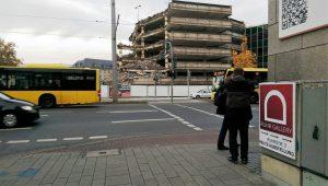 Knabberfortschritt zu Beginn der Mülheimer Kunsttage am 4.11.2016