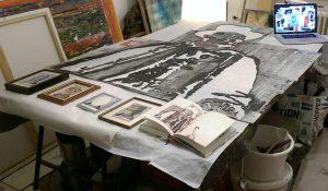 Gastatelier zum besseren Kennenlernen: Hier Arbeiten von Moritz Spilker im KunstQuartier.Ruhr in der Ruhrstr. 3 / Ecke Delle - Ruhranlage