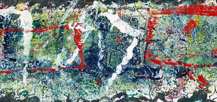 Homage an Jackson Pollock von Kurt Walter Otto (Ring64) aus dem Kunstsammlung der Galerie an der Ruhr, Mülheim