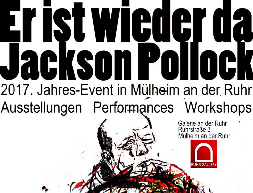 30 Künstler in der großen Schau JACKSON POLLOCK VISITING in Mülheim