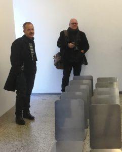 Zusammentreffen mit Stefan Wissel (li.) in der Galerie VAN HORN in Düsseldorf-Flingern