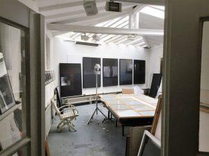 Blick in das Atelier des Kunstprofessors Martin Goppelsröder in der Kunststadt Mülheim