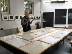 In seinem Atelier in der Kunststadt Mülheim an der Ruhr: Prof. Martin Goppelsröder