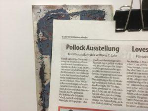 Pressebereicht in der MÜWO zur Pollock-Ausstellung Mai 2017
