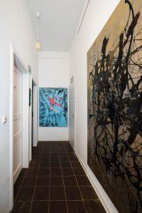 Ausstellungsbereich im CIRCULO DE BELLAS ARTES hier Arbeiten von Manfred Dahmen (re.) und Aliv Franz (Foto: Bernd Pirschtat)