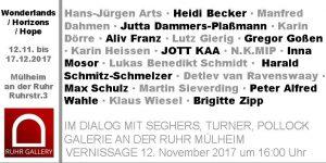 Einladungsflyer - Ausstellung bis 17.12.2017 in der Ruhrstr. 3 Stadtmitte von Mülheim