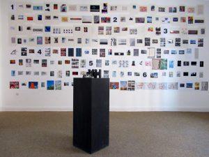 """Blick in die Ausstellung """"TAGWERK 2017"""" von Klaus Wiesel in der Beletage der RuhrGallery in der Stadt Mülheim an der Ruhr"""