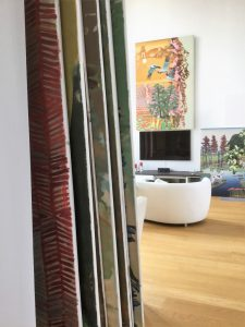 Großformatige Werke im Mülheimer Atelier