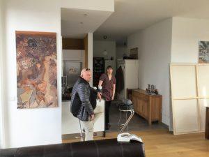 Manfred Dahmen und Ivo Franz besuchten die Künstlerin Ruth Kretzmann in Mülheim
