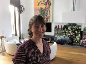 Ruth Kretzmann in ihrem Atelier in der Kunststadt Mülheim