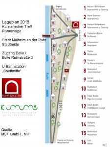 Lageplan KULI-TREFF 2018 nach dem Galeriebesuch nebenan in der Ruhranlage