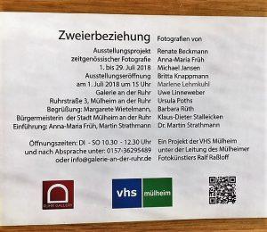 Ralf Raßloff leitet die VHS-Fotogruppe auch in diesem Jahr - der Mülheimer Kunstverein und Kunstförderverein Rhein-Ruhr stellt die Ausstellungsräume zur Verfügung