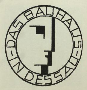 Das Bauhaus-Logo, 1922 entworfen vonOskar Schlemmer