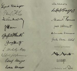 Signaturen von Bauhaus Künstler*innen