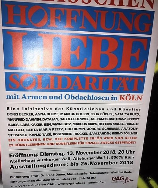 Kunst hilft geben – eine Vorbildaktion in der Stadt Köln