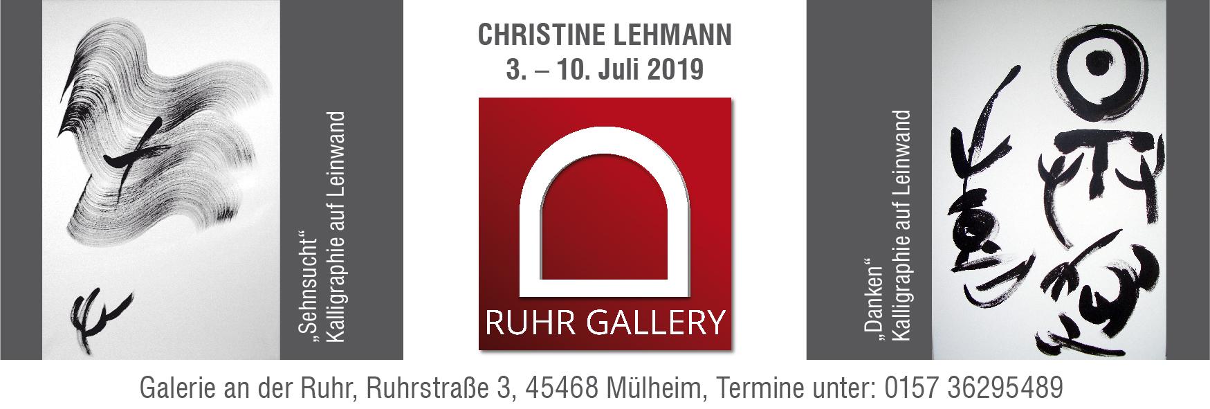 Christine Lehmann stellt in der RUHR GALLERY MÜLHEIM aus –