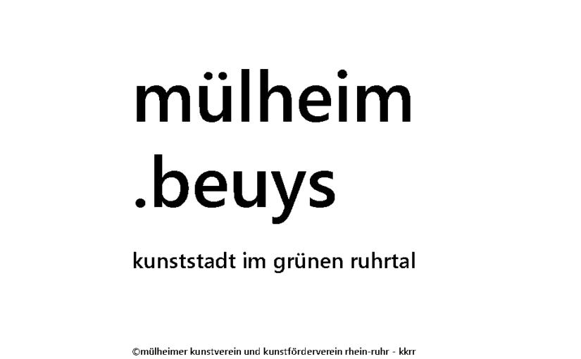 Hommage an Joseph Beuys zum 100. Geburtstag – 2021 in Mülheim an der Ruhr – Mülheimer Kunstverein KKRR beschließt Jahresmotto 2021